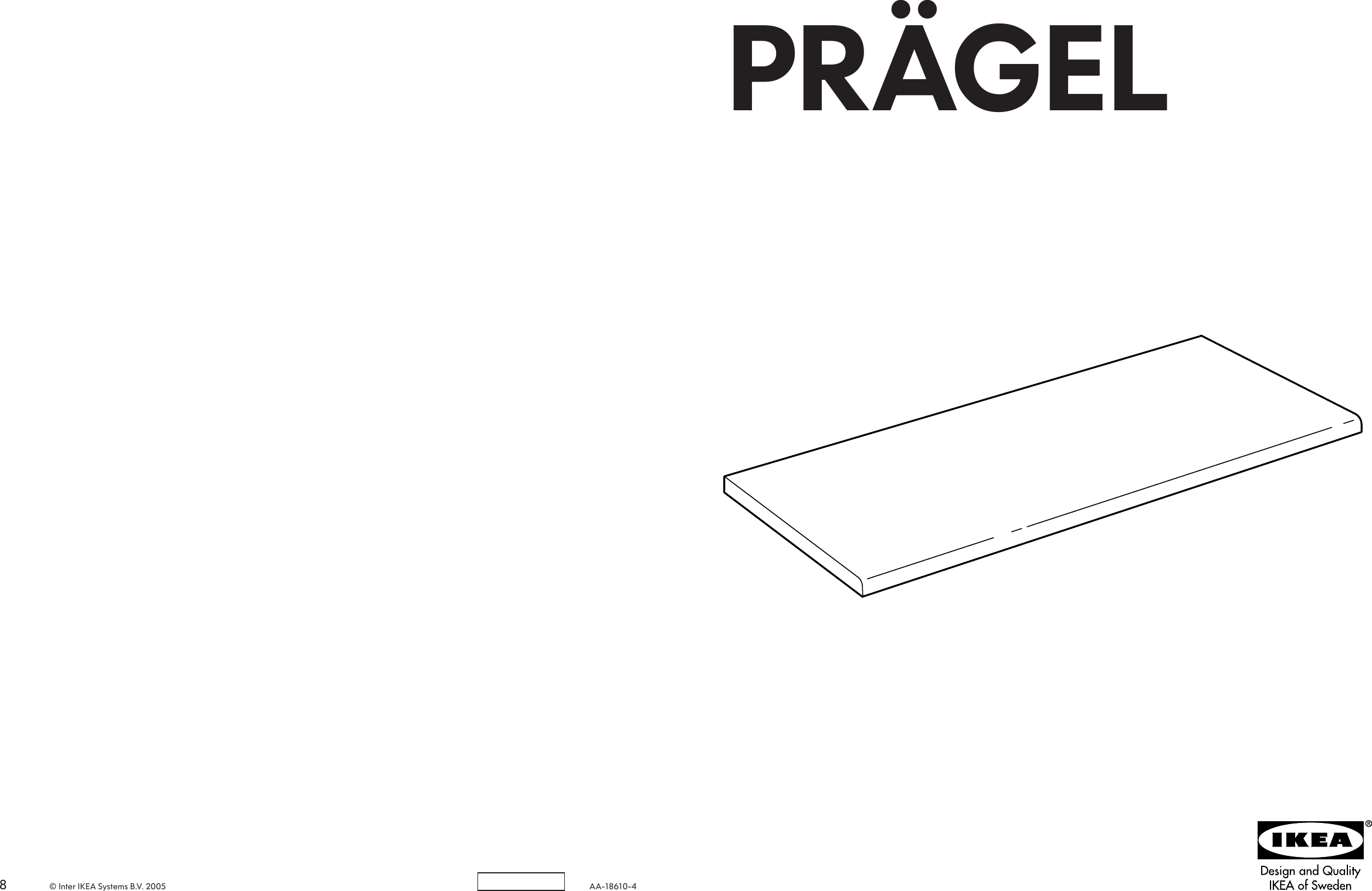 Pragel Countertop Ikea Pragel Countertop 49 5 8x25 8 Assembly Instruction