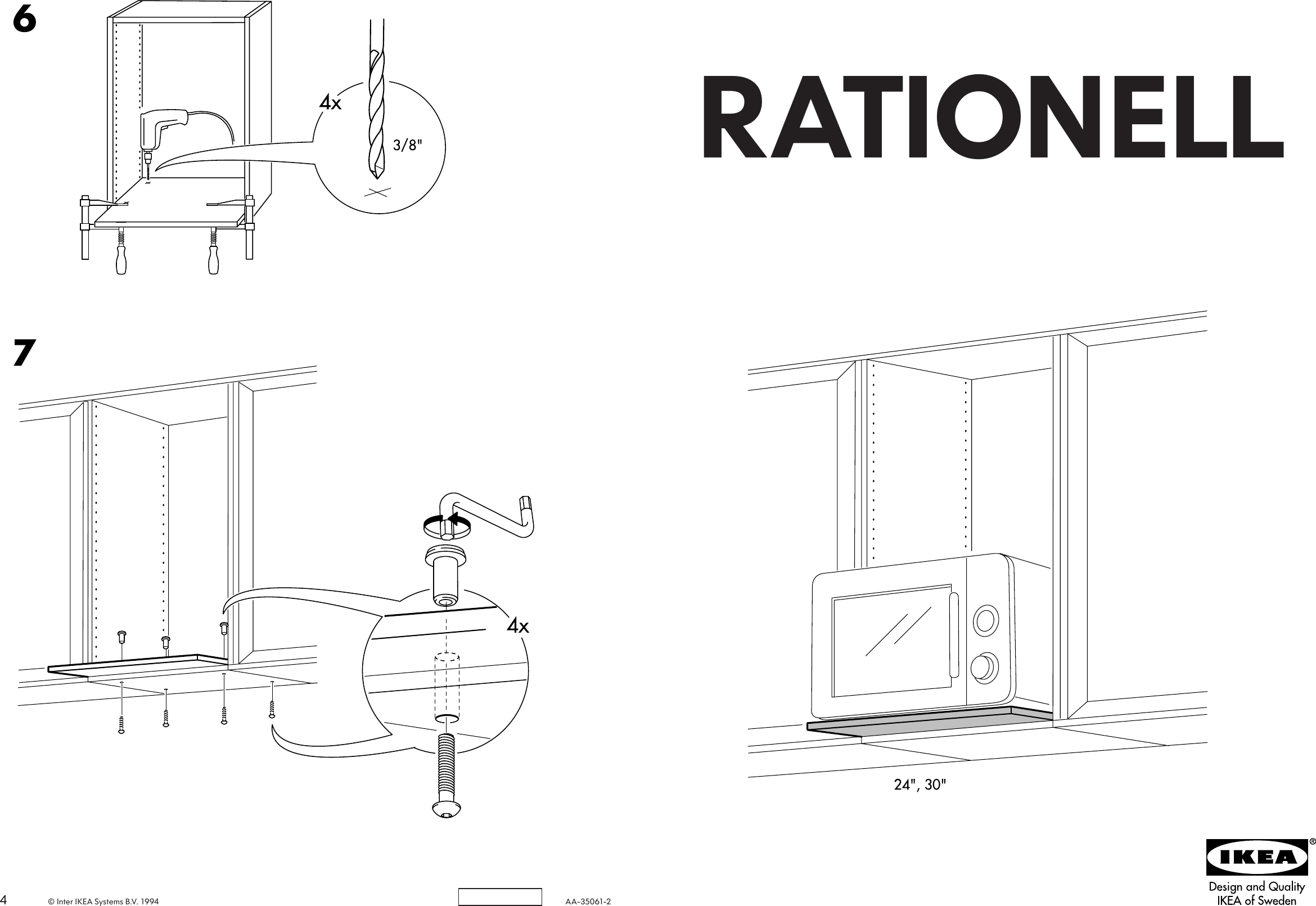 Ikea Faktum Assembly Instructions Ikea Rationell Micro Shelf 24 Assembly Instruction