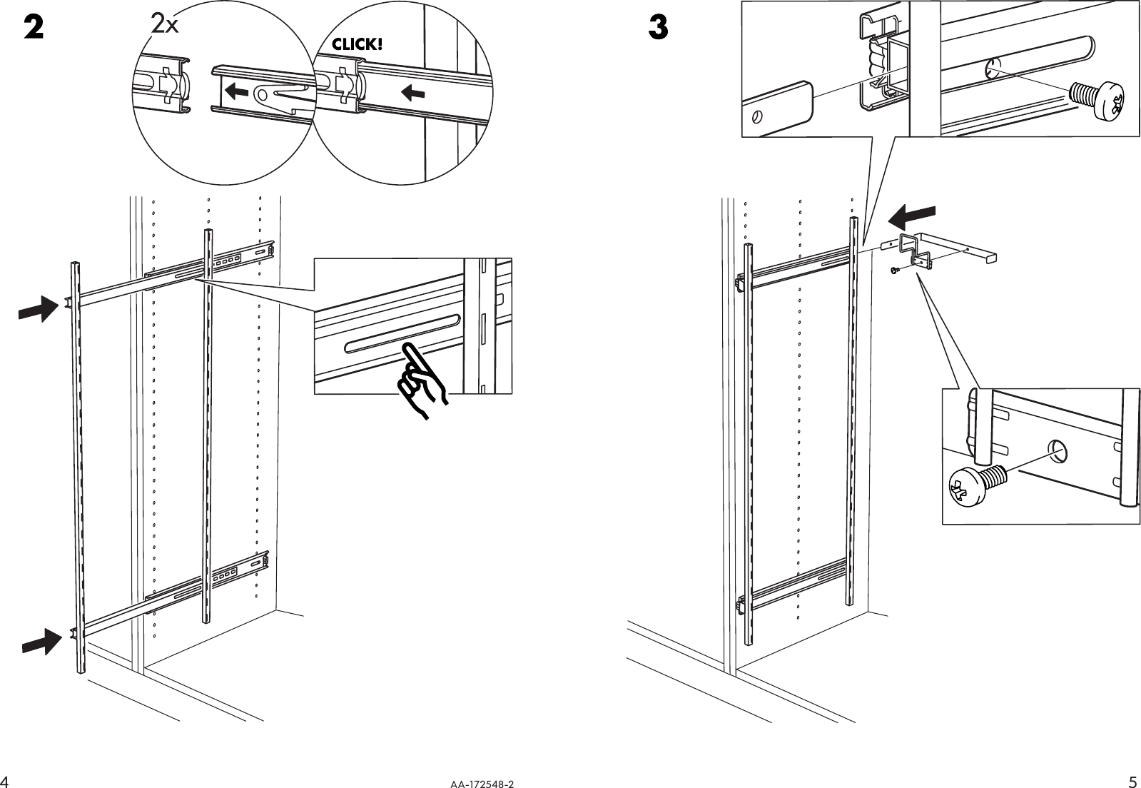 Ikea Faktum Instructions Ikea Rationell Pull Out Interior Fittings 12x47 Assembly Instruction
