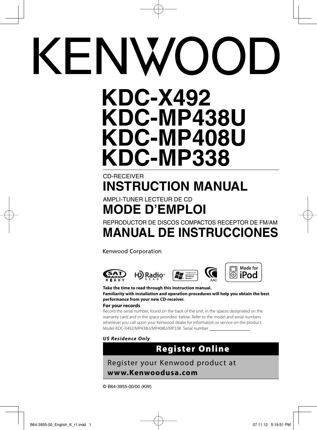 kenwood car stereo wiring diagrams kdc 492
