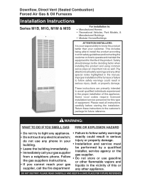 Nordyne M1BB086 User Manual FURNACE Manuals And Guides ...