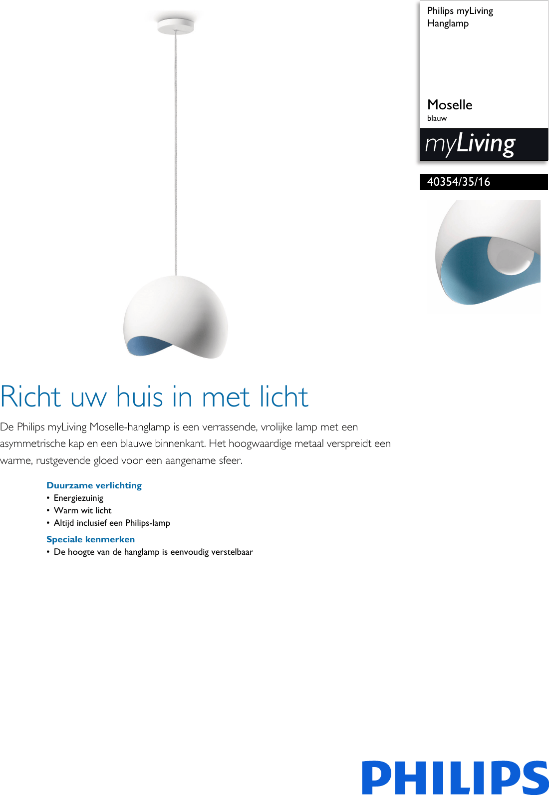 Tl Verlichting Wiki Philips 40354 35 16 403543516 Hanglamp User Manual Brochure Pss Nldnl