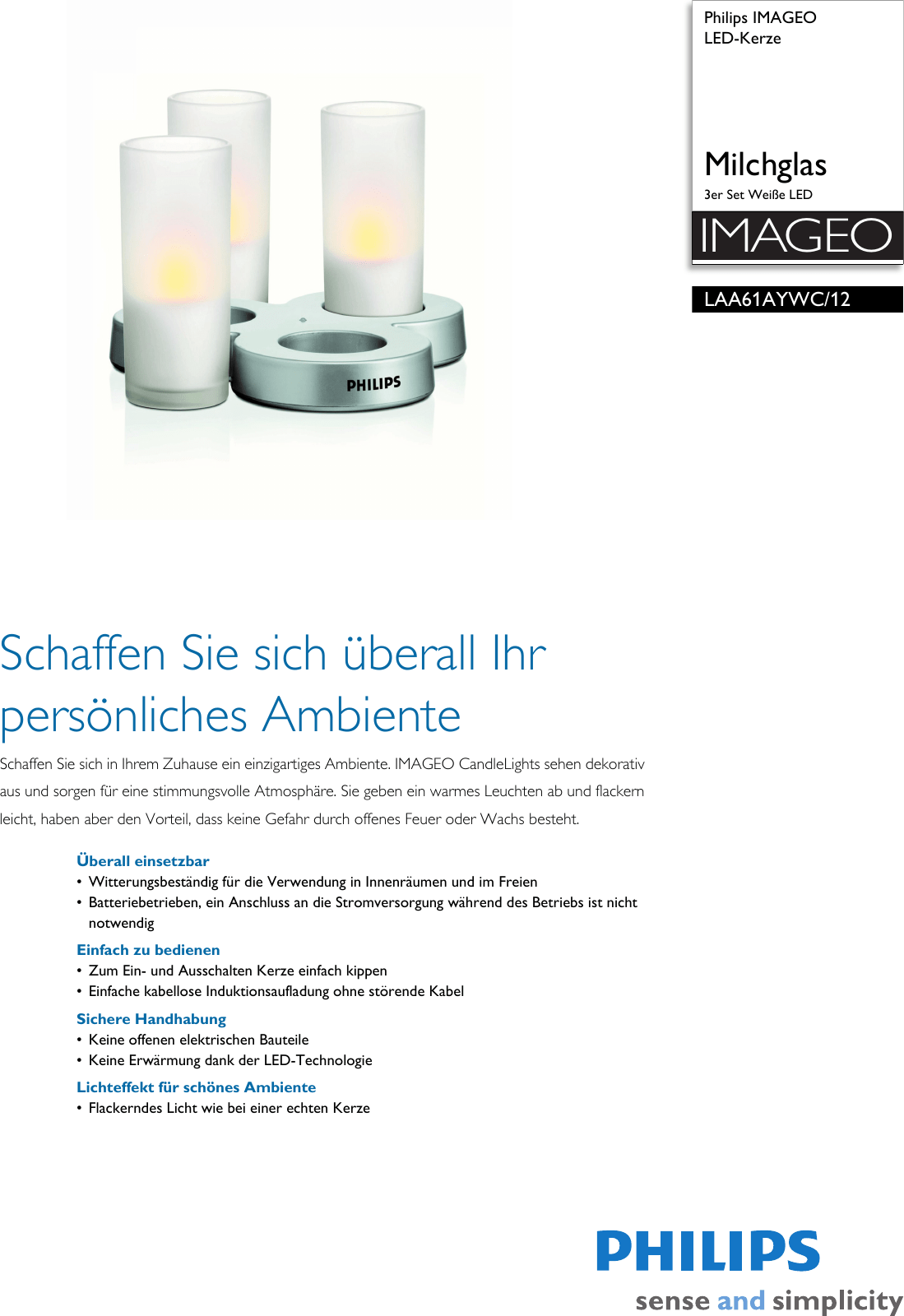 Philips Imageo Philips Laa61aywc 12 Leaflet Laa61aywc 12 Released Germany German