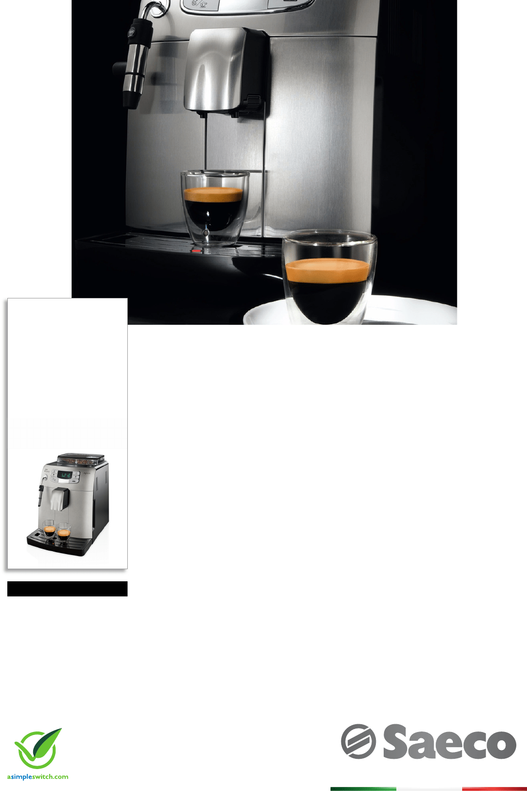 Philip Saeco Philips Hd8752 83 Super Automatic Espresso Machine Datenblatt