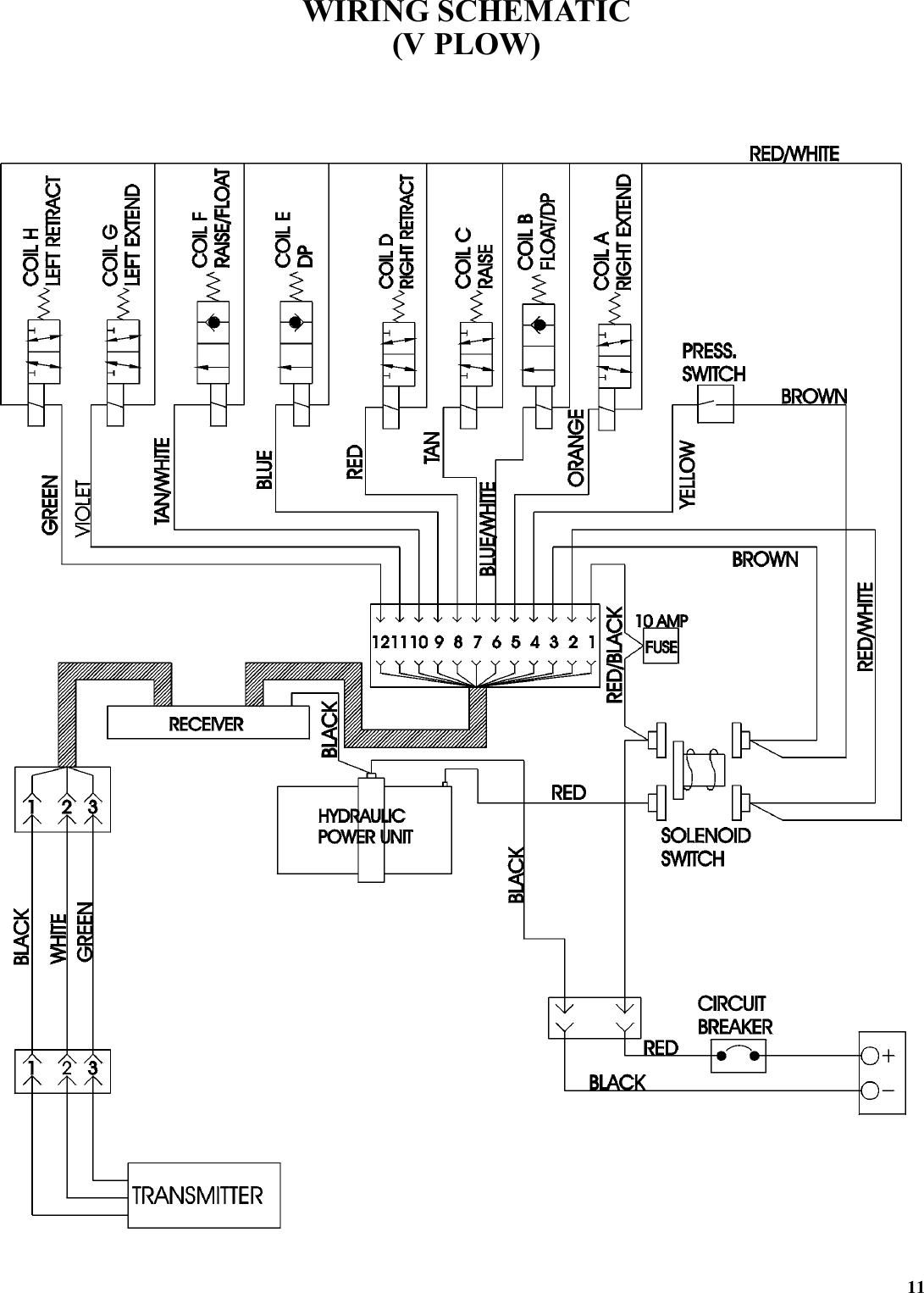 western snow plow joystick wiring diagram