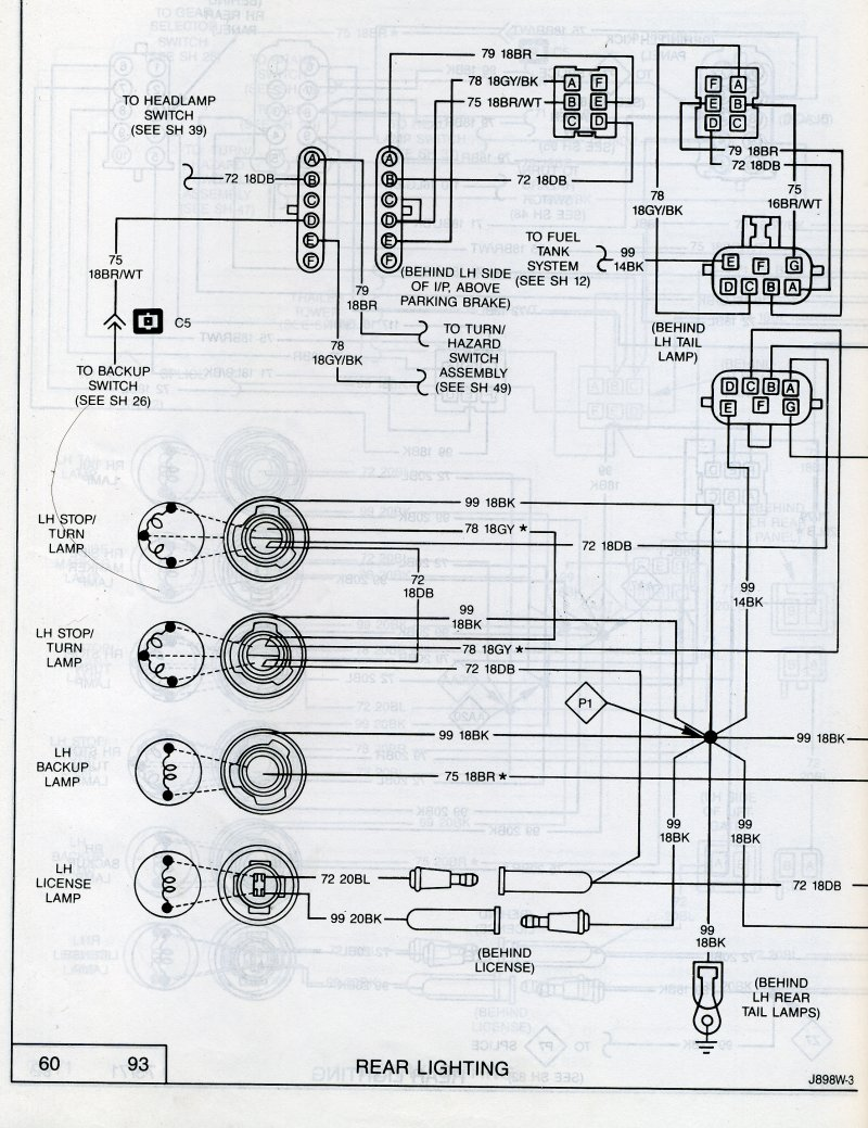 jeep yj tail light wiring diagrams online