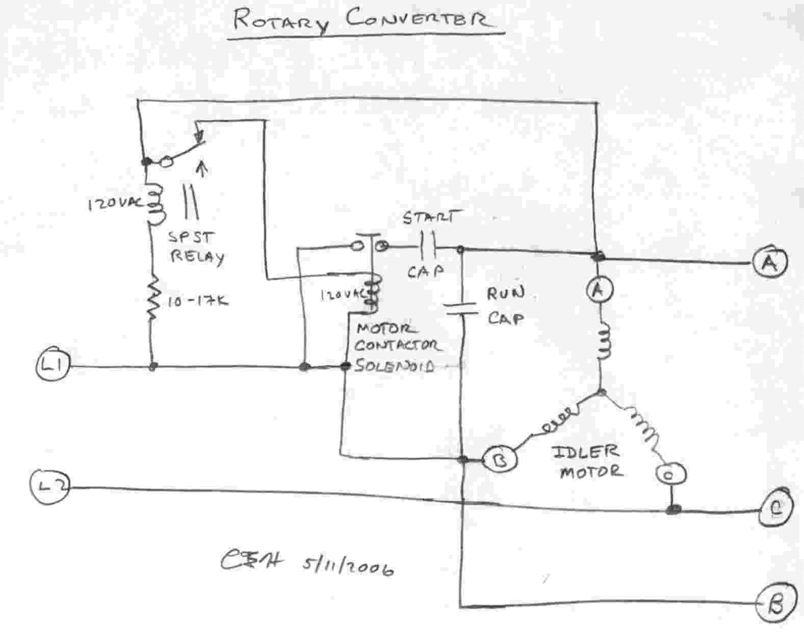 build a phase converter wiring diagram