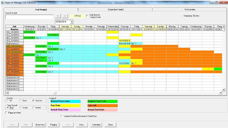 Job Shop Planning, Scheduling, Tracking Tools Gantt Charts - scheduling tools in excel