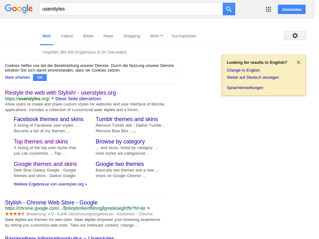 Google without ads sidebar and preview