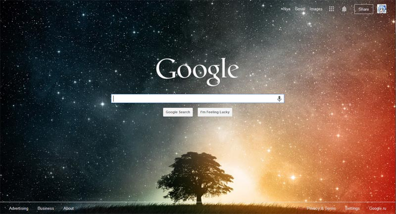 Google - Custom background (16 images or your own) Userstylesorg