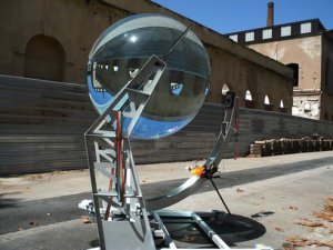 The Beta Torics system with a water-filled glass orb. Image from Raw Lemon.