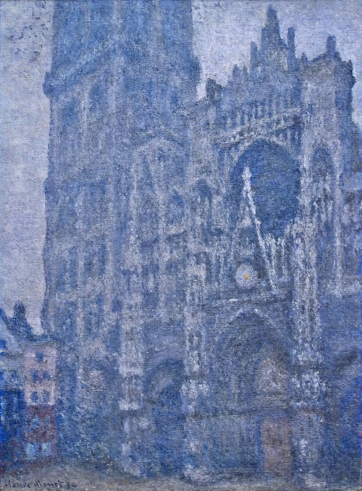 3d Modern Wallpaper Designs Claude Monet Paintings Rouen Cathedral The Portal Grey