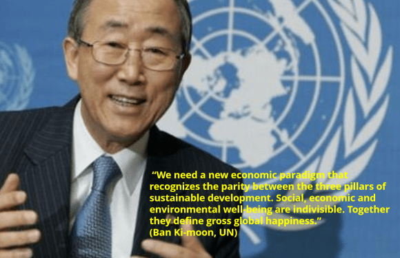 UN Secretary-General, Ban Ki-moon´s 3 pillars of the sustainable developments