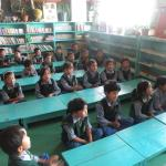 Classroom at Tibetan Children's Village (TCV) in Dharamsala, India.
