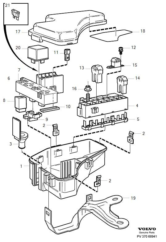2004 volvo xc70 fuse box diagram