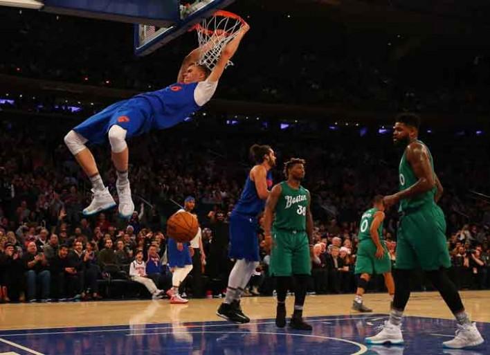 Watch Al Horford Dunks On Kristaps Porzingis In Celtics