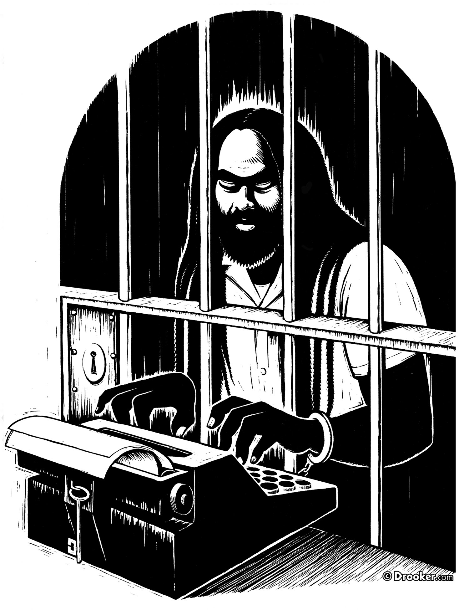 Art Of Eric Drooker Prison Culture A Faustian Bargain Mumia Abu Jamal And Life