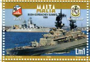 Malta Stamp Bush-Gorbachev Summit