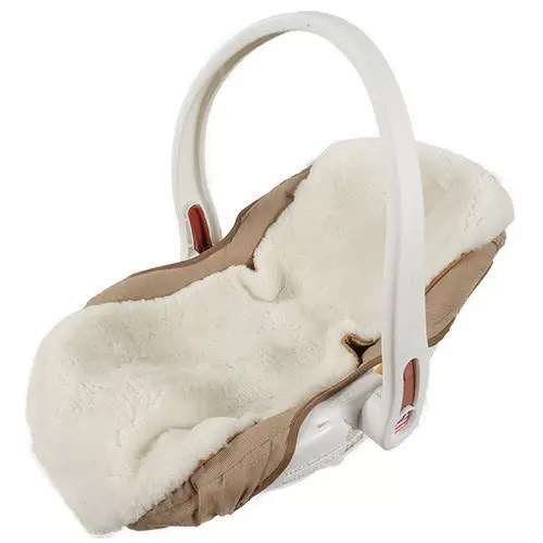 Infant Stroller Used Sheepskin Infant Seat Cover Strap Covers Us Sheepskin