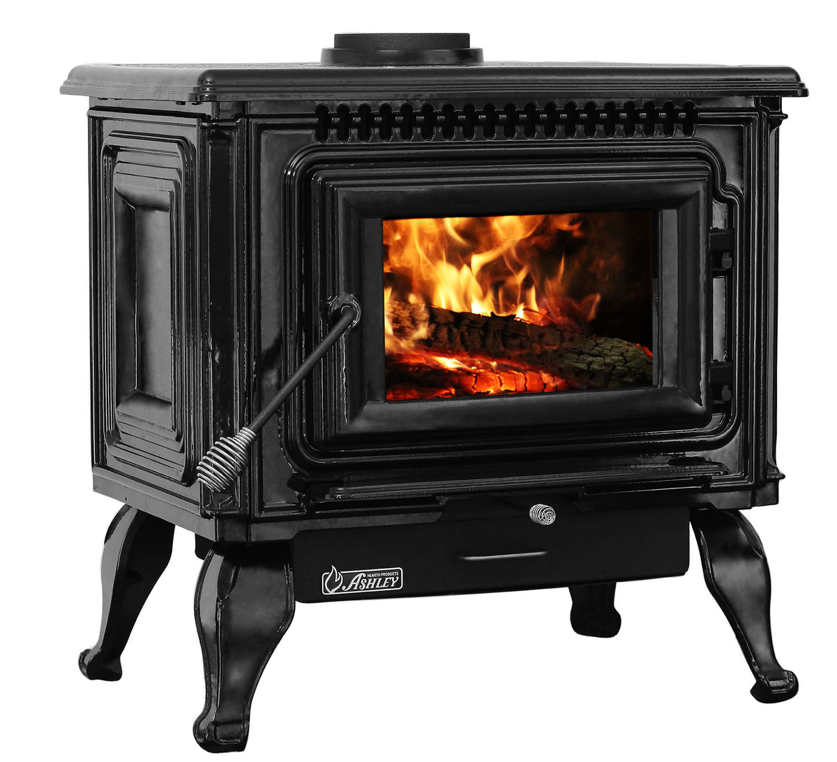 Wood Burning Fireplace Heater Blower 2 000 Sq Ft Epa Certified Black Enameled Porcelain Cast Iron Wood Stove With Blower