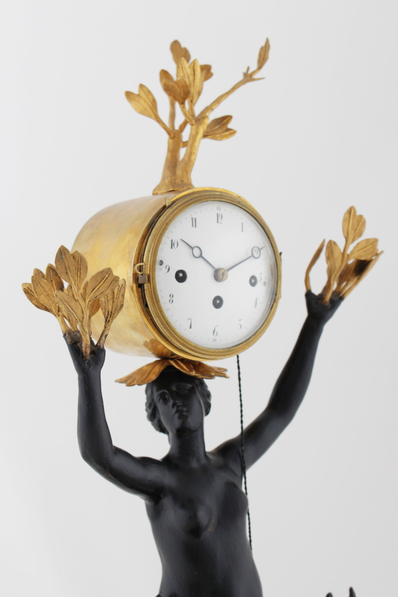 Antiquitäten Uhren Rare Vienna Empire Clock Apollo And Daphne Uhren