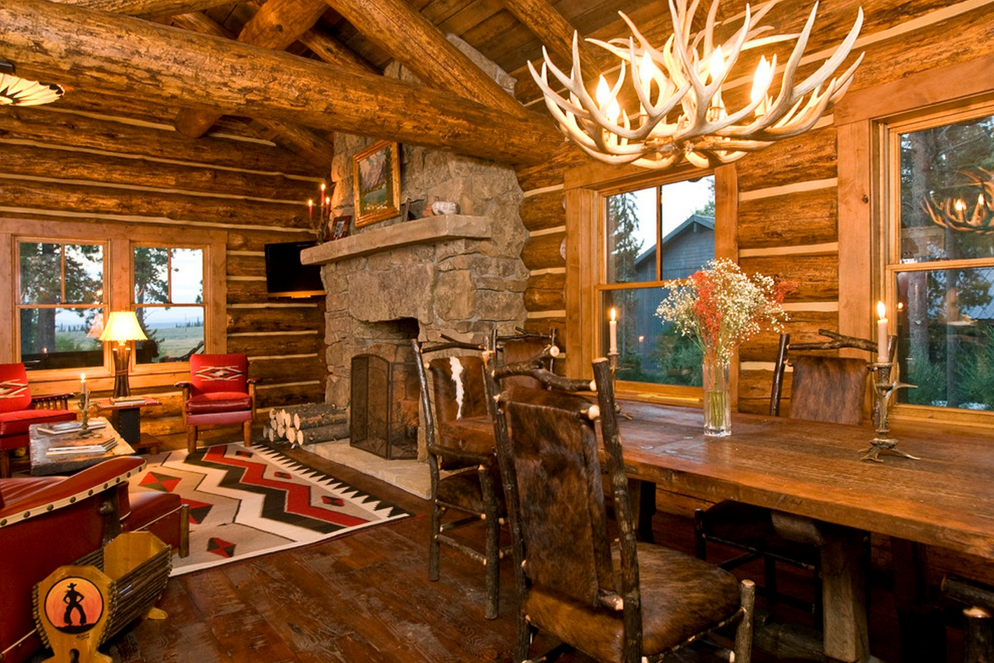 Cabin Design Ideas Cute And Cosy Cabin Beautifully Warm Home Has Traditional