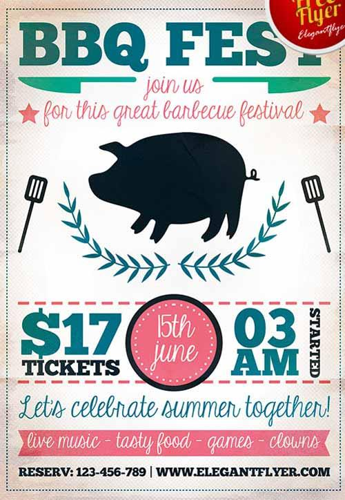 7 Hot \ Free Barbecue \/ BBQ Flyers Templates UTemplates - bbq flyer