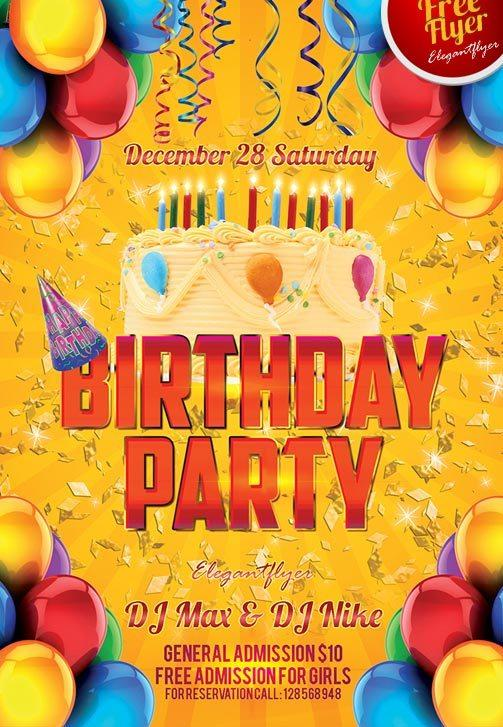 flyers for birthday parties - Minimfagency