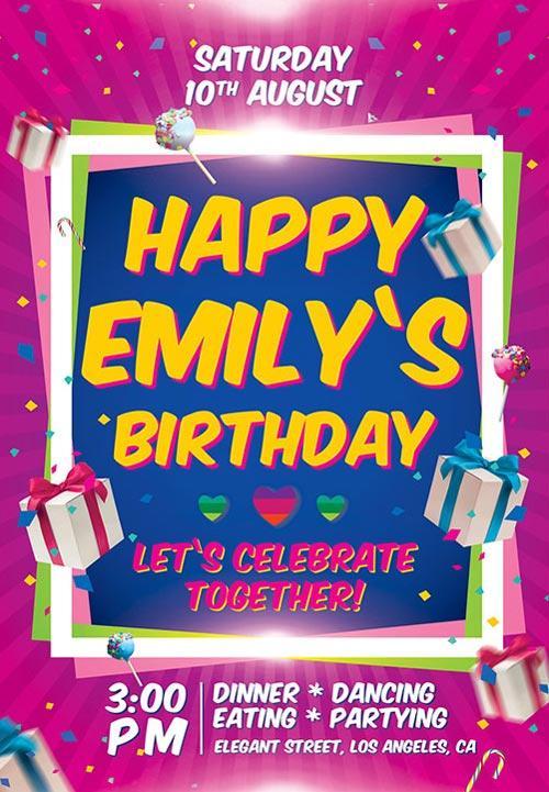 11 Beautiful  Free Birthday Flyers Templates UTemplates - invitation flyer sample