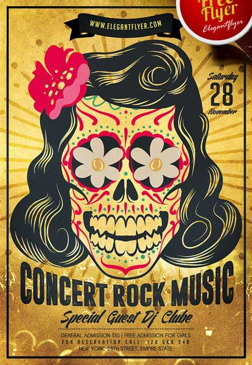 20+ Free Indie Rock Music Events Flyers Templates UTemplates - music flyer template