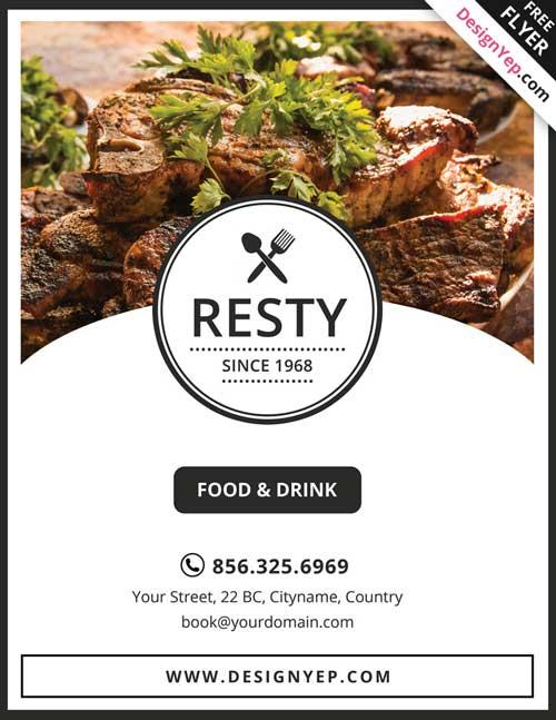 13 Good-Looking  Free Restaurant Flyers Templates UTemplates - free food menu template