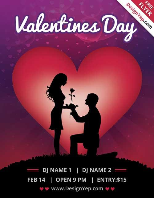 20 Lovely  Free Valentine Flyer Templates UTemplates