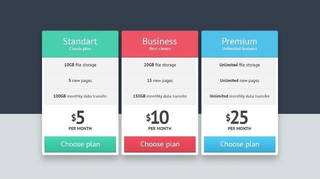 21 Elegant  Free Pricing Tables Templates UTemplates - price list design template