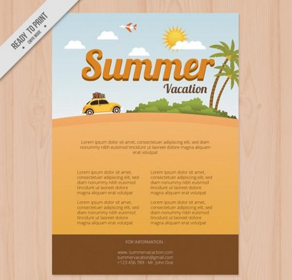 10 Beautiful Travel  Vacation Brochure Templates UTemplates