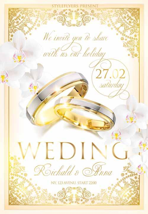5 Beautiful  Free Wedding Flyers Templates UTemplates - wedding flyer