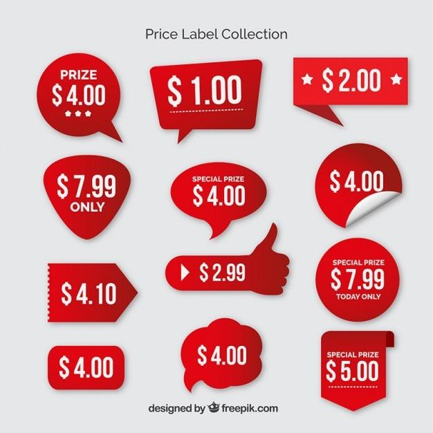 40 Beautiful  Free Price Labels / Tags PSD UTemplates