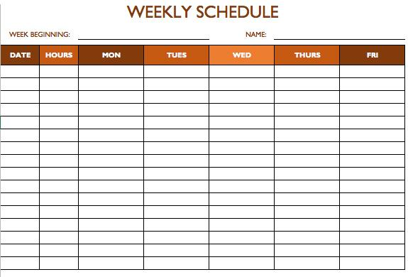 70+ Free Schedule  Planner Templates  Word, Excel  PowerPoint