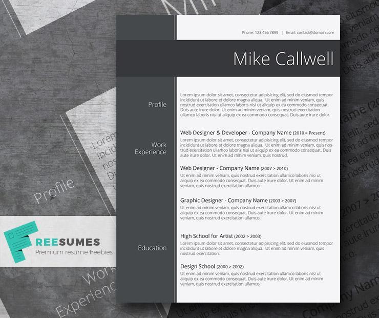 100+ Free Resume Templates  PSD / Word  UTemplates - Free Word Resume