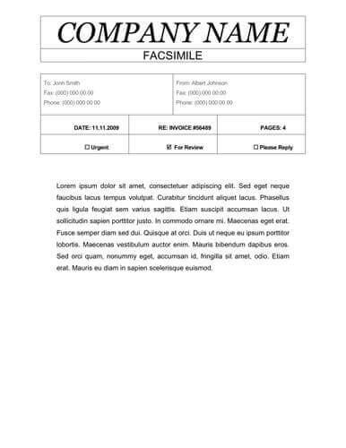 50+ Free Fax Cover Sheet Templates  Word / PDF  UTemplates