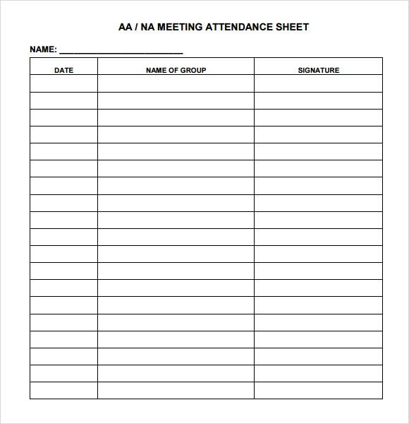attendance document template - Goalgoodwinmetals - attendance template