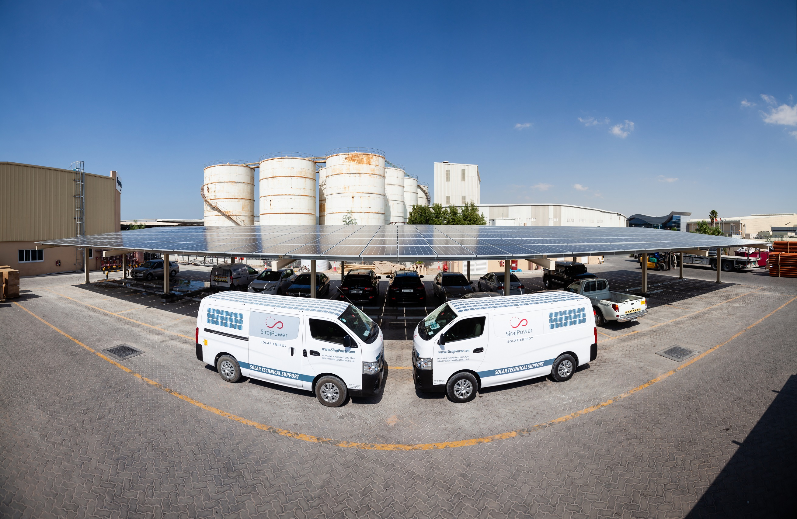 Karpot Uae's Sirajpower Launches Its First Solar Carport - News, Power - Utilities Middle East