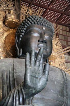 Le bouddha en bronze