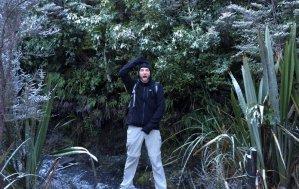 Patrick qui se prend pour un guerrier maori...