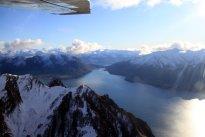 Le lac Wanaka, d'en-haut cette fois!