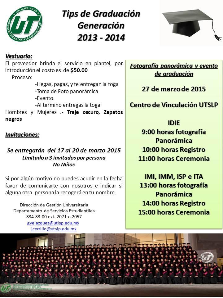 Graduación de la Generación 2013-2014