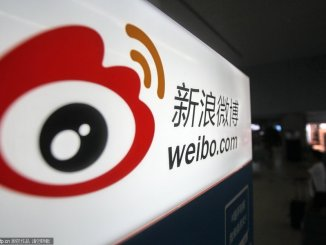 An advertisement for Weibo.com, the Twitter-like microblogging service of Sina, is seen at Shanghai Hongqiao International Airport in Shanghai, China | Image: Xinhua News