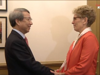 Former South Korean Prime Minister Chung Un-Chan meeting with current Ontario Premier Kathleen Wynne I Images: ArirangKoreaTV