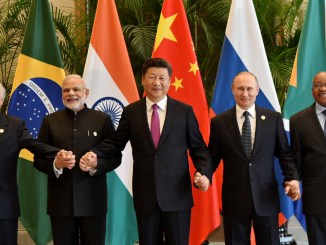 The Indian Prime Minister, Shri Narendra Modi with other BRICS leaders in a family photograph in Hangzhou, China on 4 September 2016 I Image: Flickr/ Narendra Modi