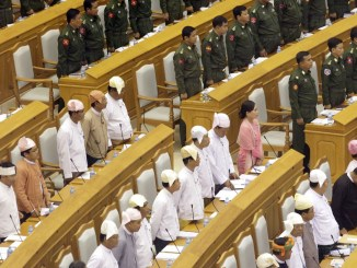 Representatives of Myanmar attend the 9th Regular Session of the Union Parliament in Nay Pyi Taw, Myanmar, 26 March 2014 I Image: Xinhua/U Aung