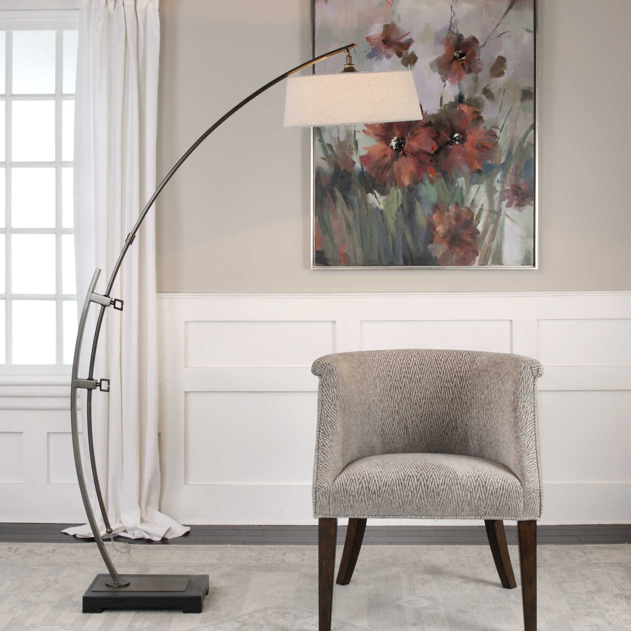 Small Arc Floor Lamp Uttermost Calogero Bronze Arc Floor Lamp